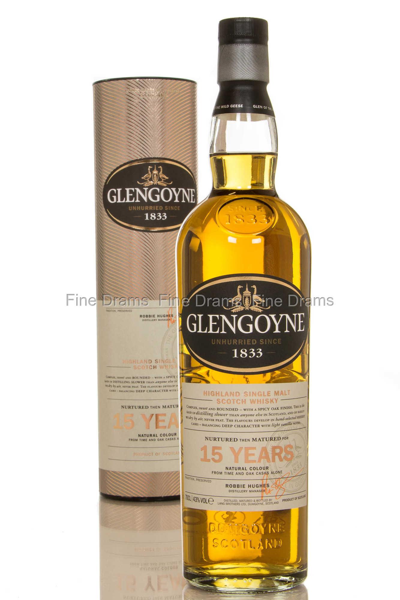 Glengoyne 15 Year Old Scotch Single Malt Whisky