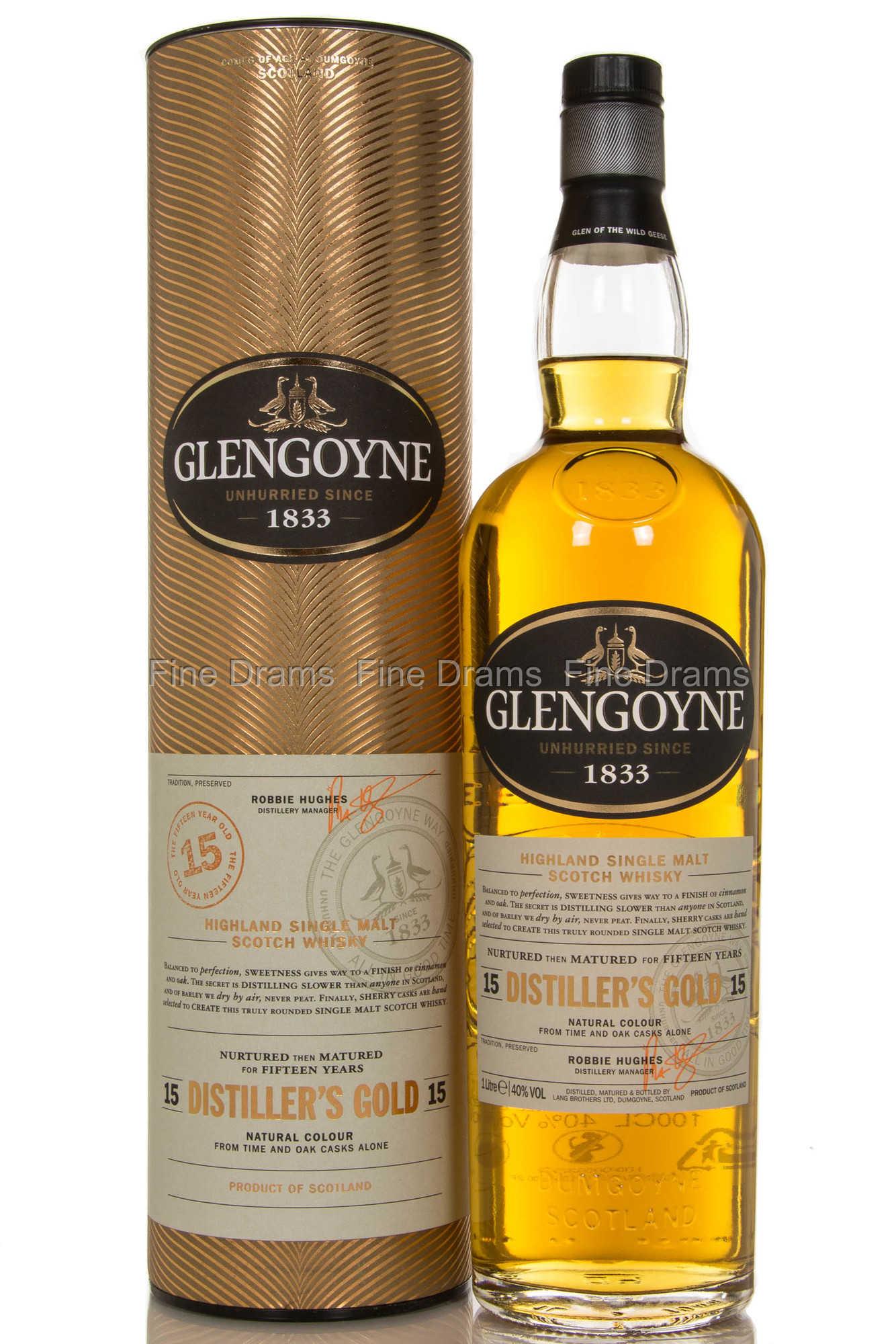 Glengoyne 15 Year Old Distiller's Gold 1 Liter Scotch Whisky