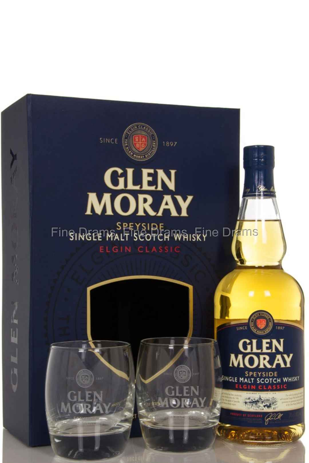 Glen Moray Classic Gift Pack / 2 Glasses Scotch Whisky