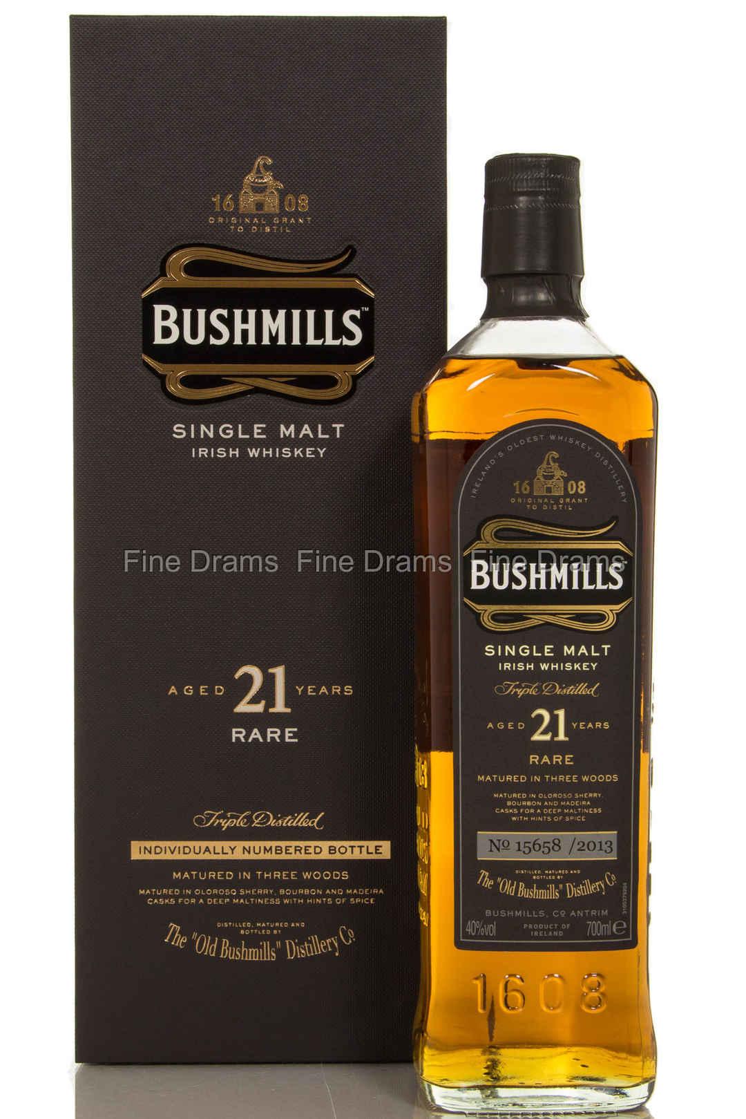 Bushmills 21 Year Old Irish Single Malt Whiskey