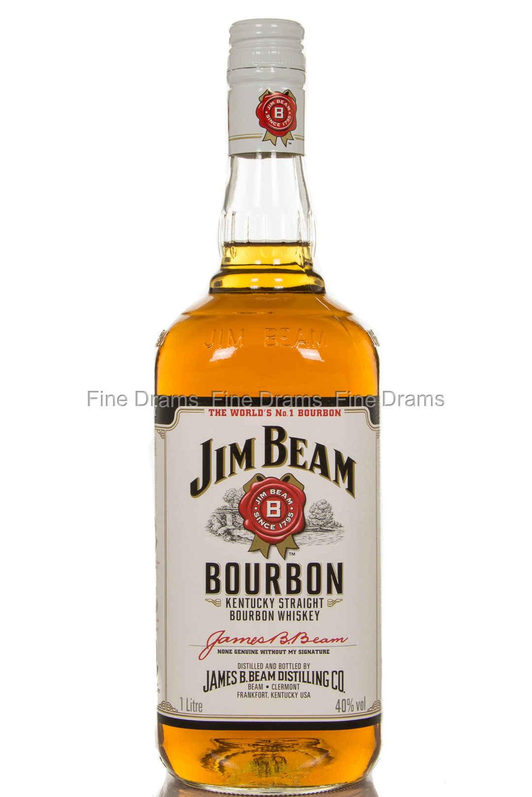 Jim Beam White Label 1 Liter Bourbon Whiskey