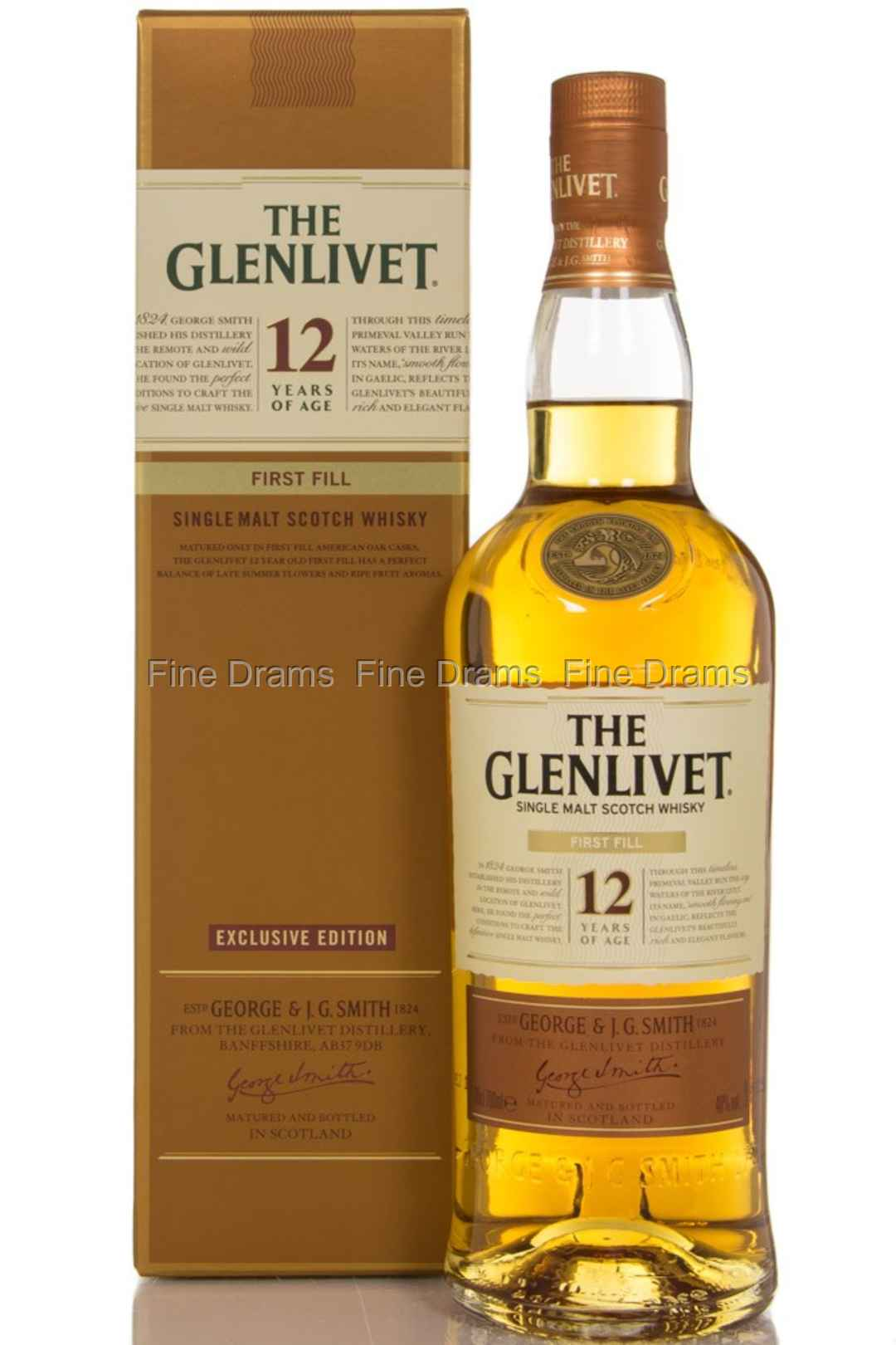 glenlivet 12 year old first fill scotch whisky