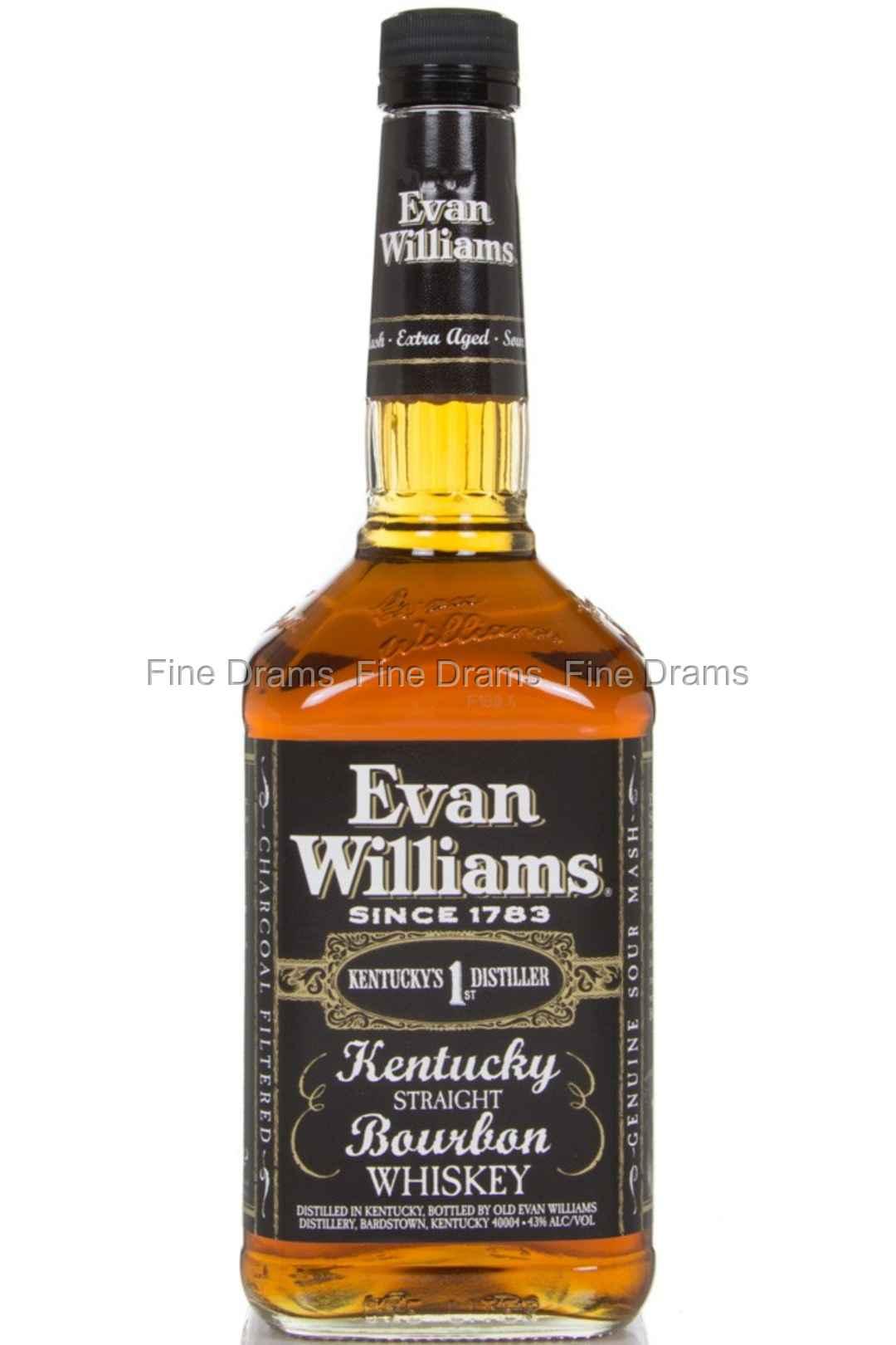 Evan Williams Bourbon 1 Liter Whiskey