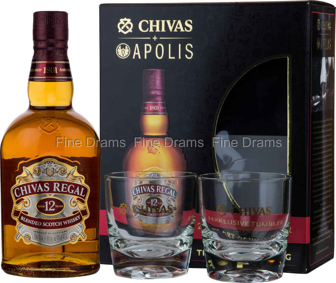 040a8ca3be9 Chivas Regal 12 Year Old Whisky Gift Pack - 2 Glasses