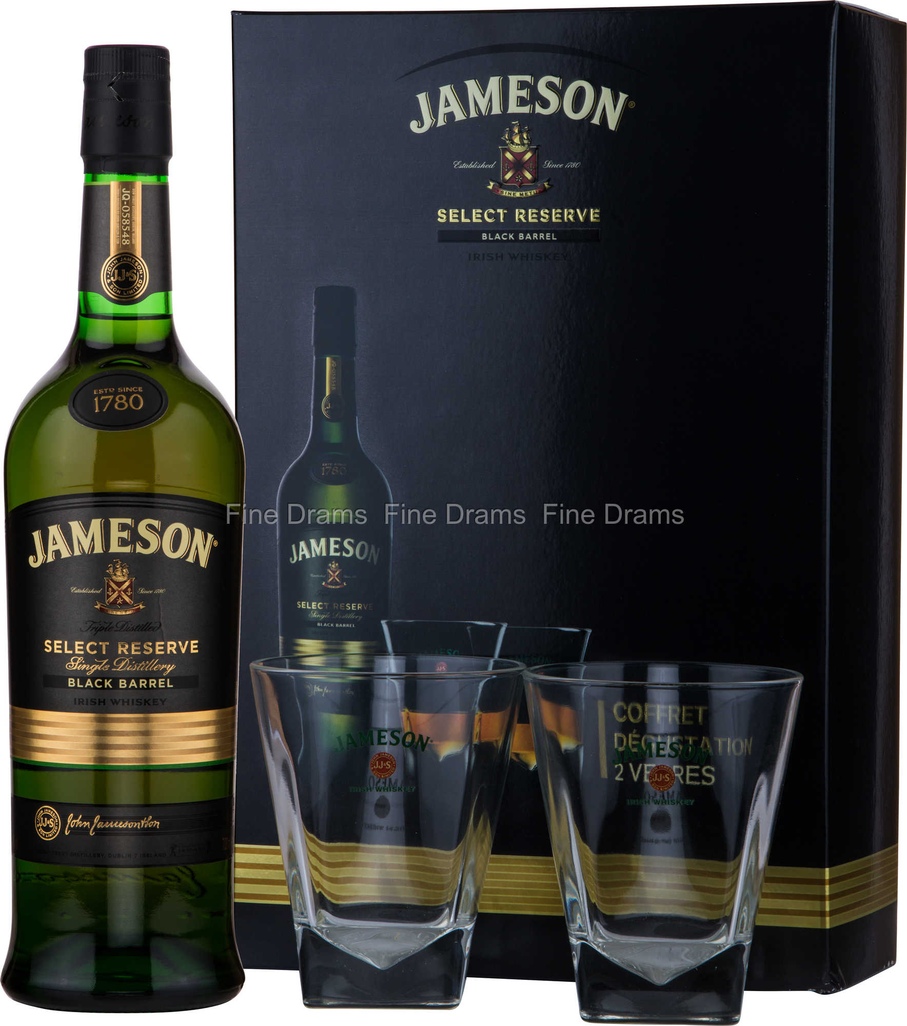 jameson select reserve black barrel whisky gift pack 2. Black Bedroom Furniture Sets. Home Design Ideas