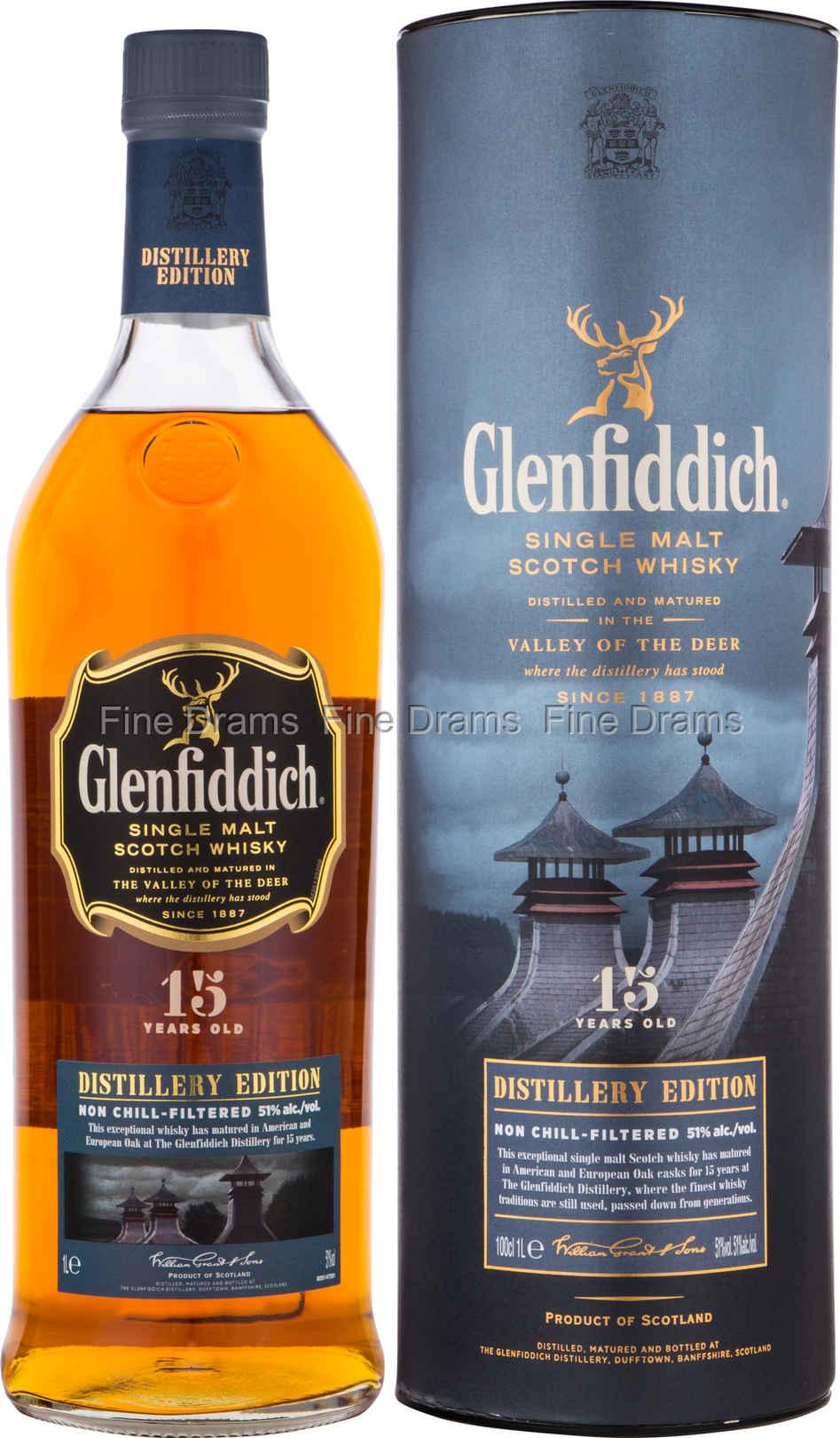 Glenfiddich 15 Year Old Distillery Edition Whisky 1 Liter