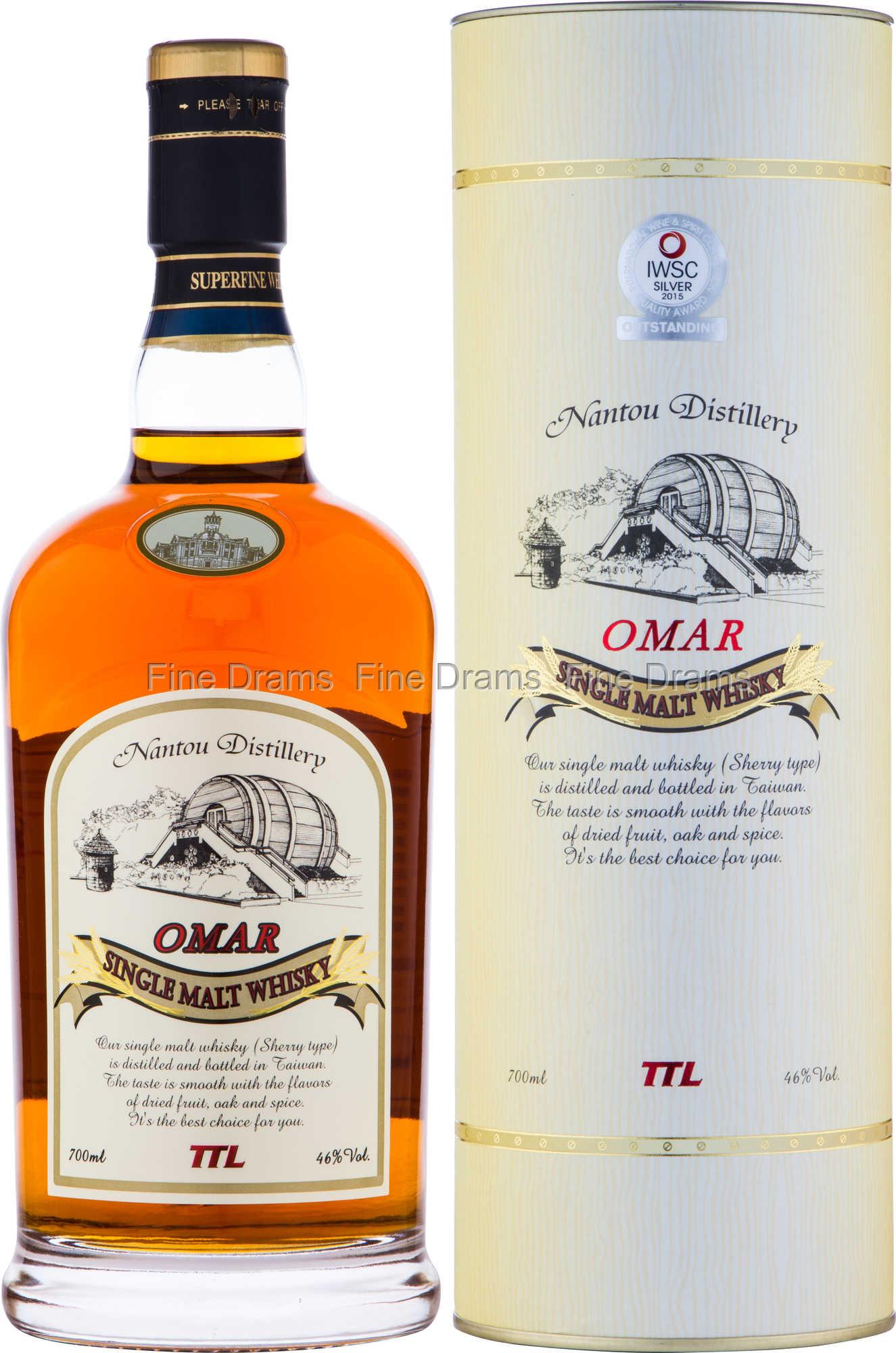 Malt whisky single omar Nantou Omar