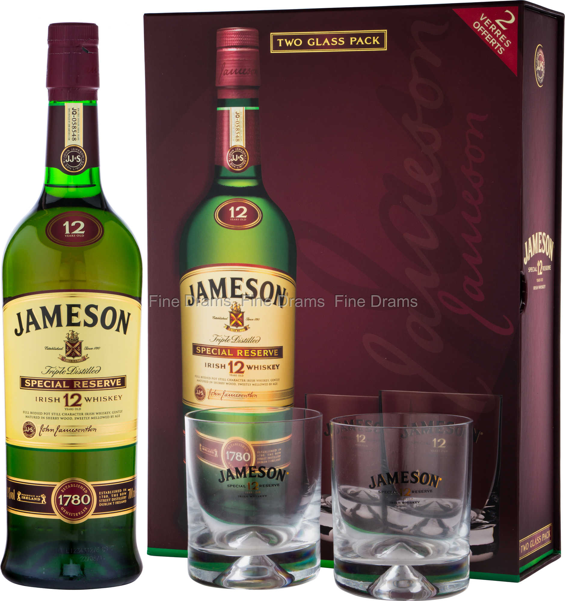 Jameson 12 Year Old Whisky Gift Pack