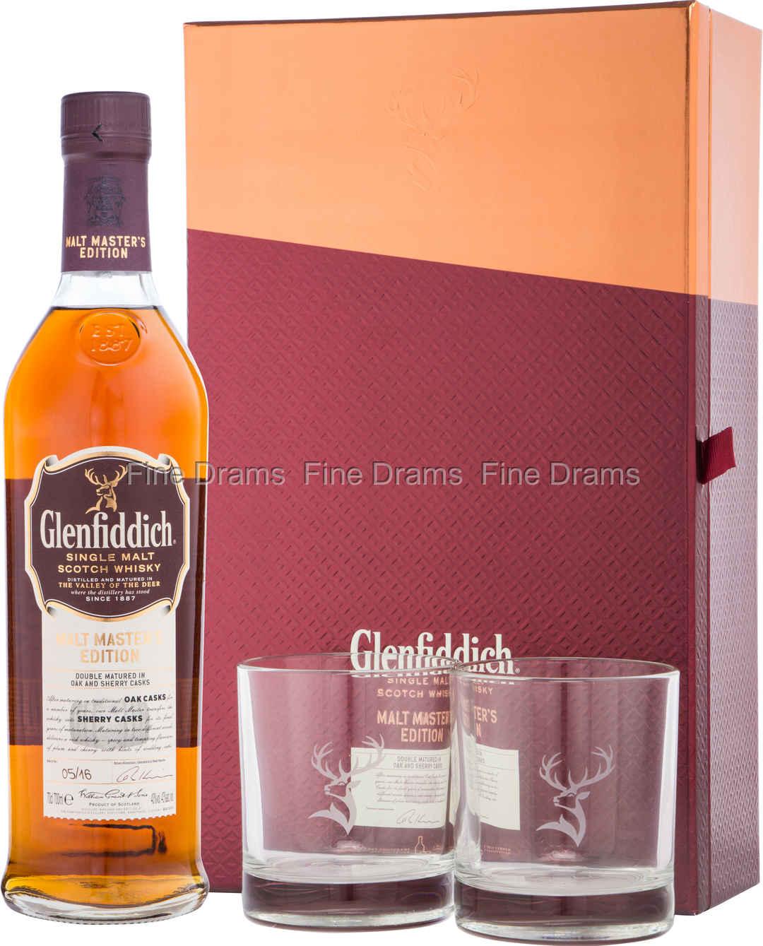Glenfiddich Malt Master Gift Set - 2 Glasses
