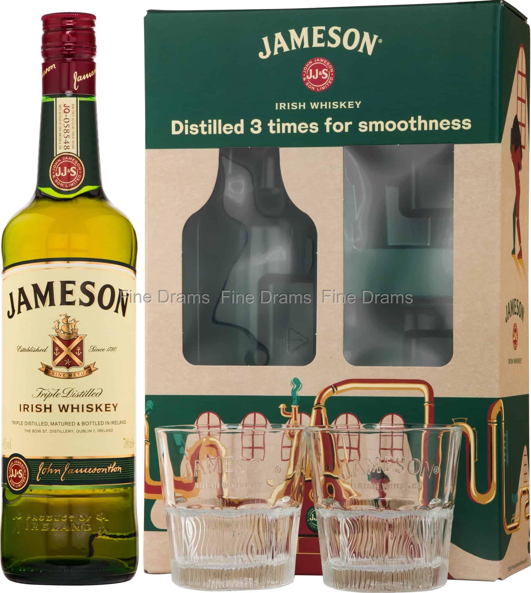 Jameson Irish Whiskey Gift Pack - 2 Glasses