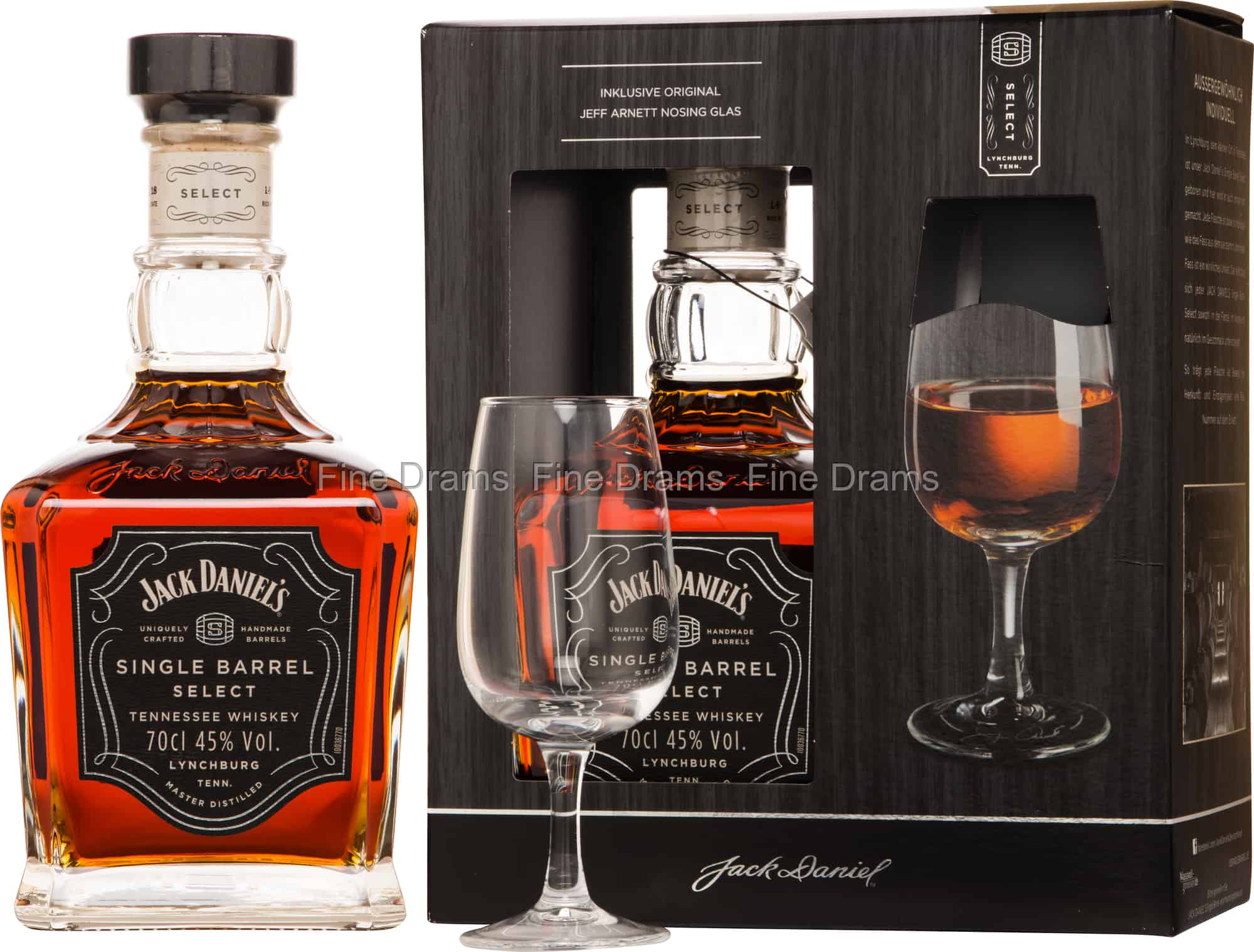 Jack Daniel's Single Barrel Gift Pack 1 Glass Whiskey
